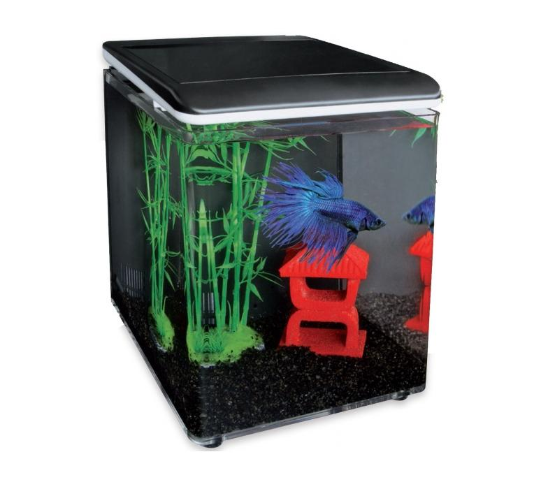 SuperFish HOME 8 AQUARIUM BLACK akvarijní set