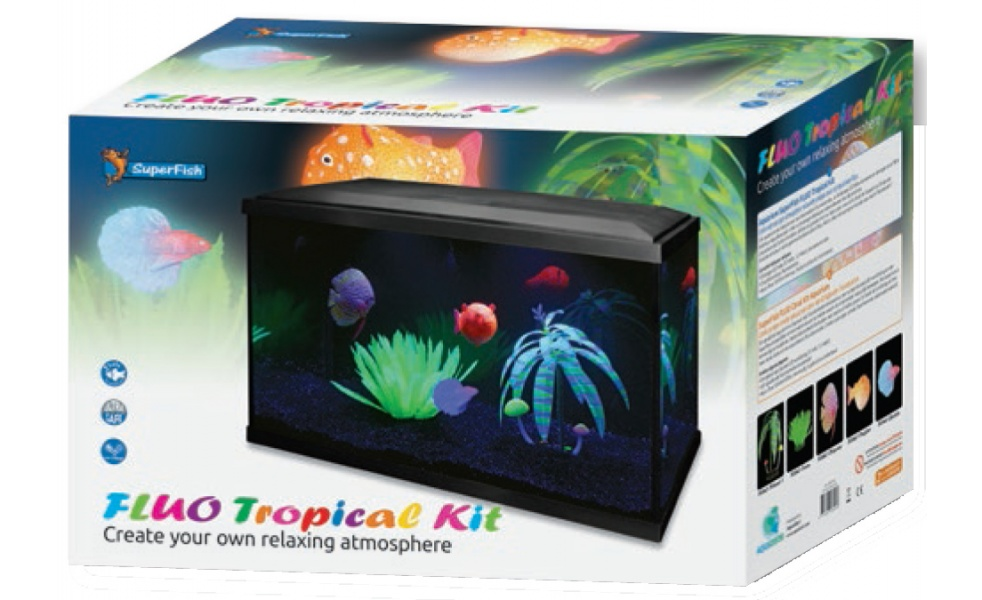 SuperFish akvarijní set FLUO TROPICAL kit 40L AKCE