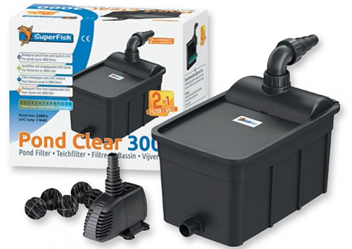 Superfish Pond Clear Kit 3000 filtrační set s UVC a čerpadlem